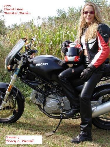 Women On Motorcycles - Best Pictures From 2005-2006 2001 Ducati 600 Monster Dark-5356