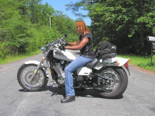 Women On Motorcycles   Best Pictures From 2005 2006: 2005 Honda Shadow 600  VLX Deluxe