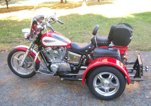 motorcycle trike picture of a 1995 honda shadow 1100 trike. Black Bedroom Furniture Sets. Home Design Ideas