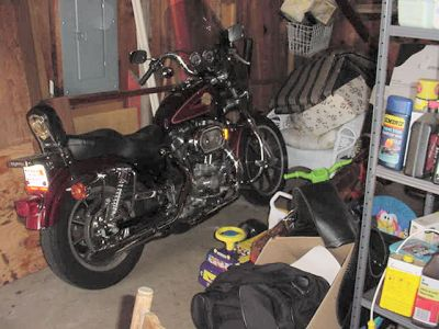Motorcycle Amidst Clutter