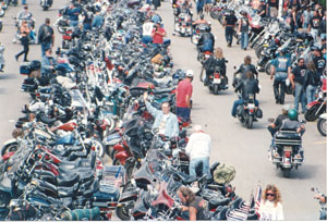 Walter (waving) at the Sturgis Motorcycle Rally®