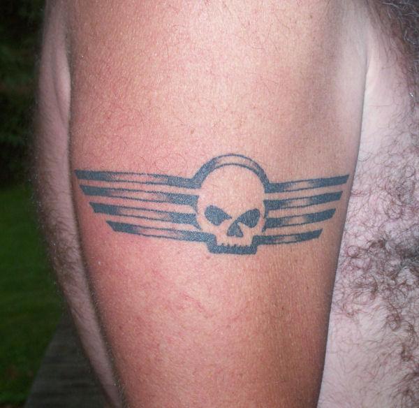 Harley davidson motorcycle tattoos joy studio design for Harley skull tattoos